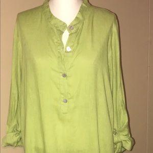 FLAX tunic dress women's size medium 100% linen
